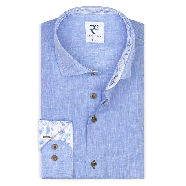 R2 Blue linen shirt.