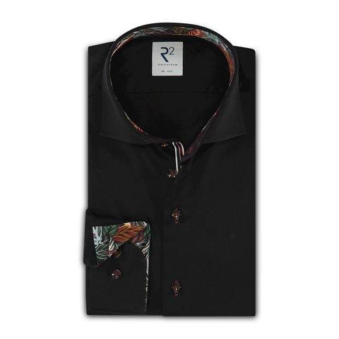 Black 2 PLY cotton shirt.