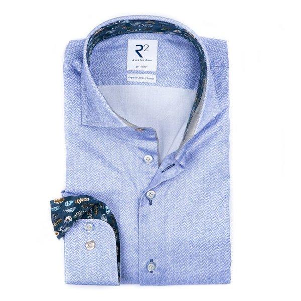 R2 Light blue 2 PLY organic cotton shirt.