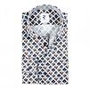 White graphical print cotton shirt.