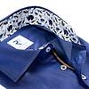 Blue Herringbone cotton shirt.