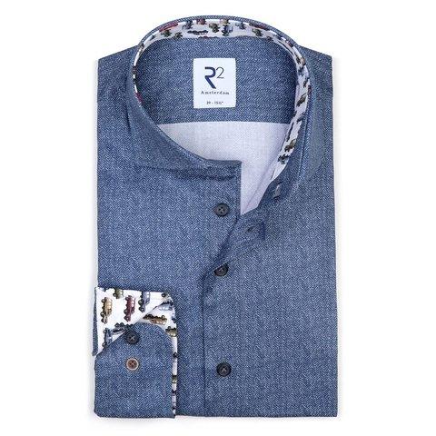 Blue 2 PLY organic cotton shirt.