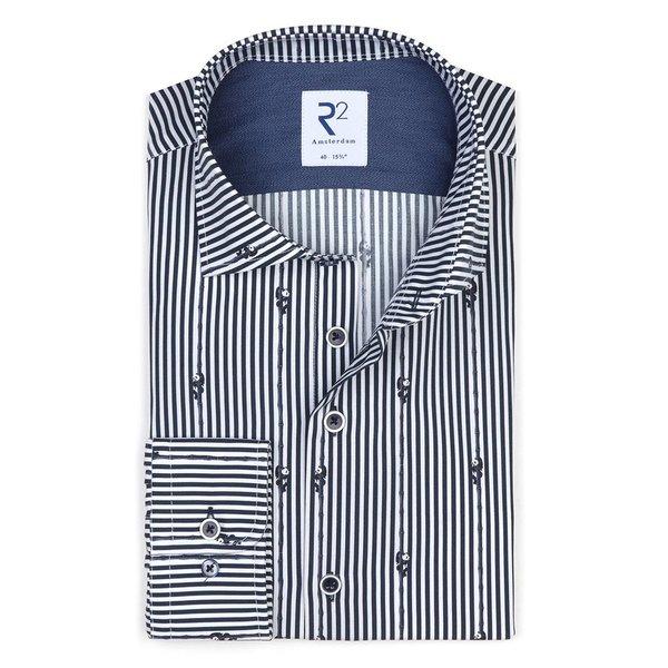 R2 White panda print cotton shirt.