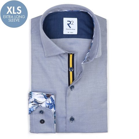 Extra Long Sleeves. Blue cotton shirt.