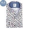 Extra Long Sleeves. White Jeep print 2 PLY organic cotton shirt.