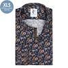 Extra Long Sleeves. Flower print cotton shirt.