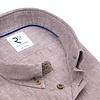 Brown linen/cotton shirt.