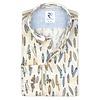 Multicolour surfboard linen shirt.
