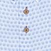 Light blue floral print linen shirt.