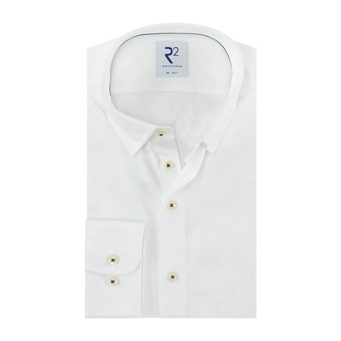 White piquet cotton shirt.
