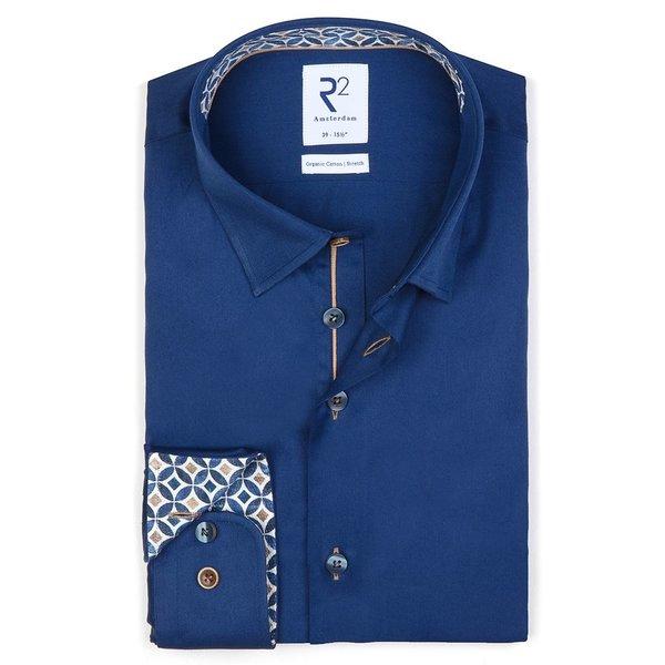 R2 Dark blue cotton shirt.