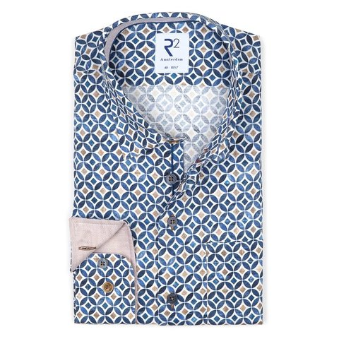 Multicolour dobby cotton shirt.
