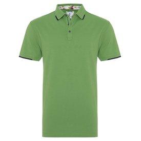 R2 Green piquet cotton polo
