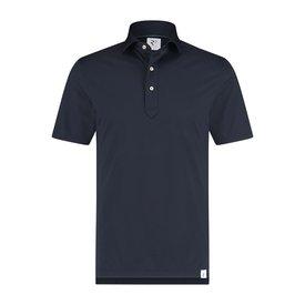 R2 Navy blue piquet shirtpolo.