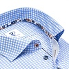 Light blue checkered cotton shirt.