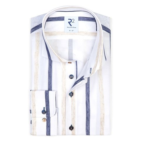 White striped cotton shirt.