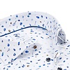 White sport print organic cotton shirt.