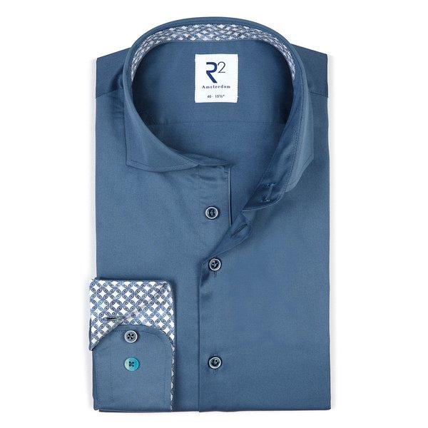 R2 Blue 2 PLY cotton shirt.