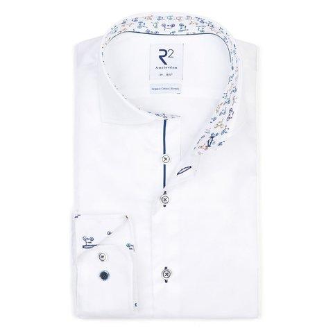 White 2 PLY Phatfour cotton shirt.