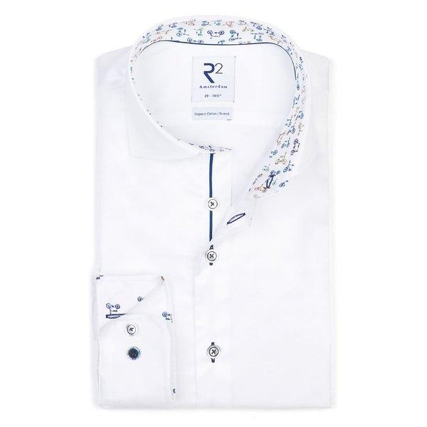 R2 White 2 PLY Phatfour cotton shirt.