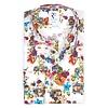 Multicolour iconic bus print stretch cotton shirt