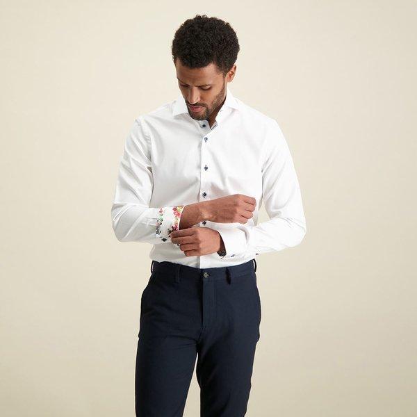 R2 White cotton 2 PLY shirt