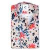 Multicolour flower print cotton shirt.
