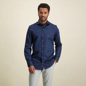 R2 Navy blue 2 PLY organic cotton shirt.
