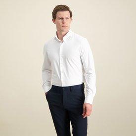 R2 Wit 4-way stretch strijkvrij overhemd.