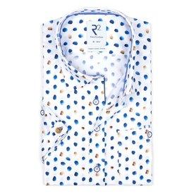 R2 Short sleeves white organic cotton shirt.