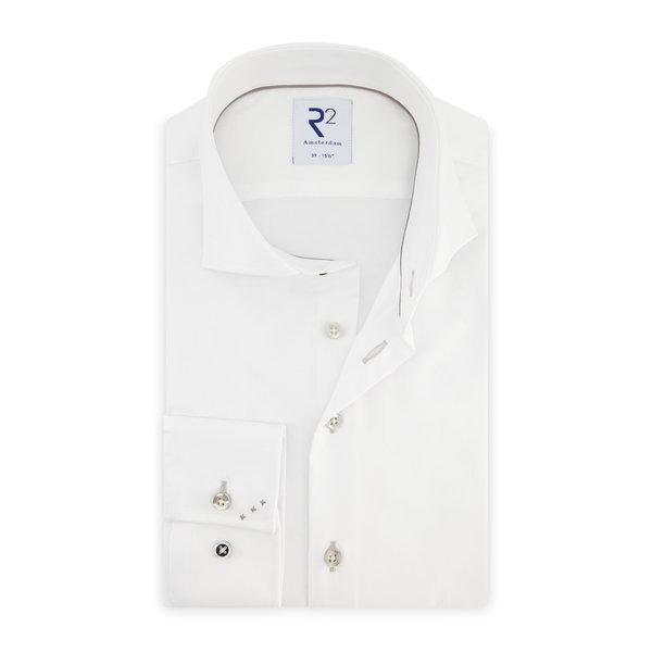 R2 Wit 2 PLY katoenen overhemd