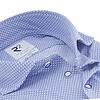 Wit miniprint 4-way stretch jersey overhemd
