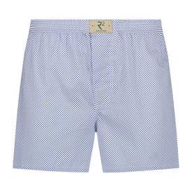 R2 White polka dot print cotton boxershorts