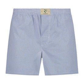 R2 White checkered print cotton boxershorts