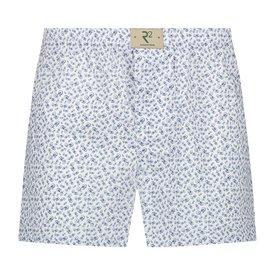 R2 White bicycle print cotton boxershorts