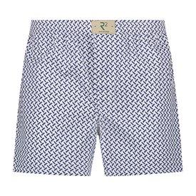 R2 White graphic print cotton boxershorts