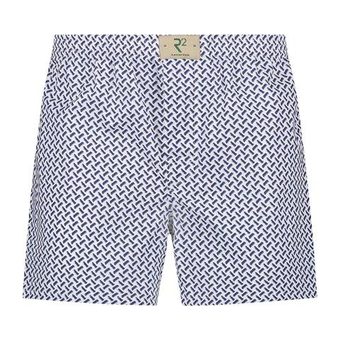 Wit grafische print katoenen boxershort