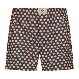 R2 Dark blue polka dot print cotton boxershorts