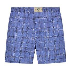 R2 Blue checkered cotton boxershorts
