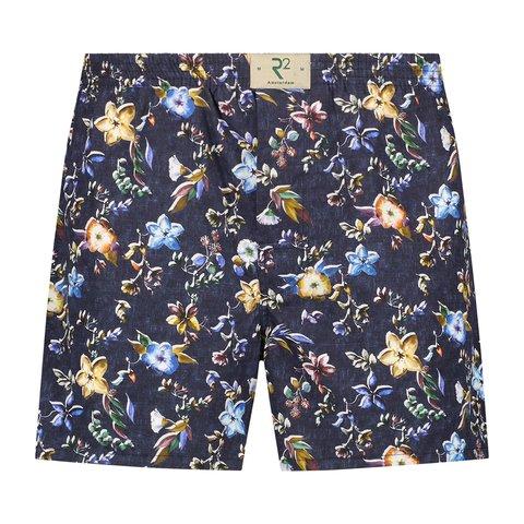 Multicolour bloemen print katoenen boxershort