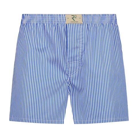 Wit blauw gestreepte katoenen boxershort