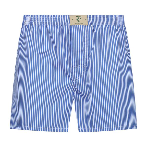 R2 Wit blauw gestreepte katoenen boxershort