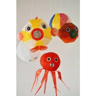 Japanse Papieren Ballonnen  Sea Mix