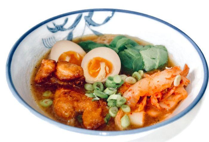 Ramen Japanse noedelsoep, een recept