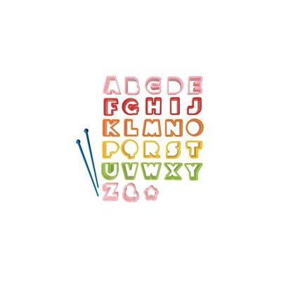Alfabet uitdrukvormpjes