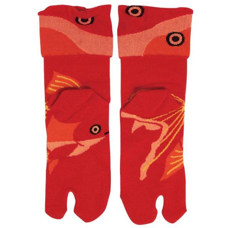 Japanse tabi sokken goudvis