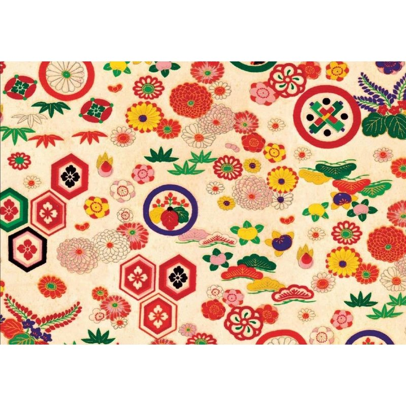 Notecards met kimono patronen