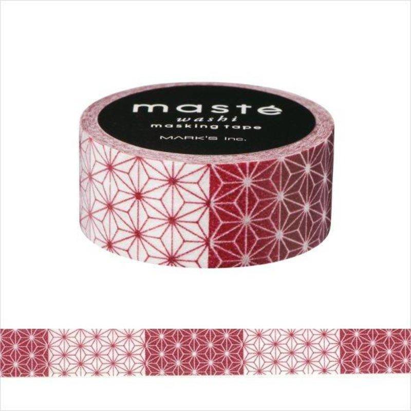Masking Tape Asanoha Red