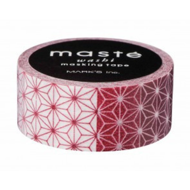 Masking Tape Asanoha Red