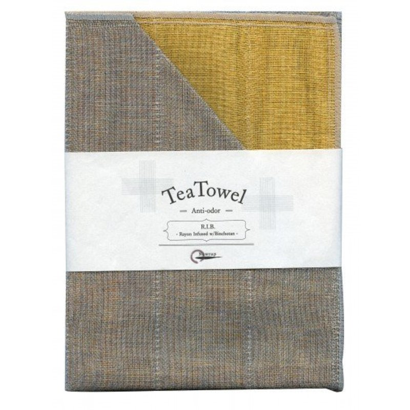 Nawrap tea towel with binchotan yellow